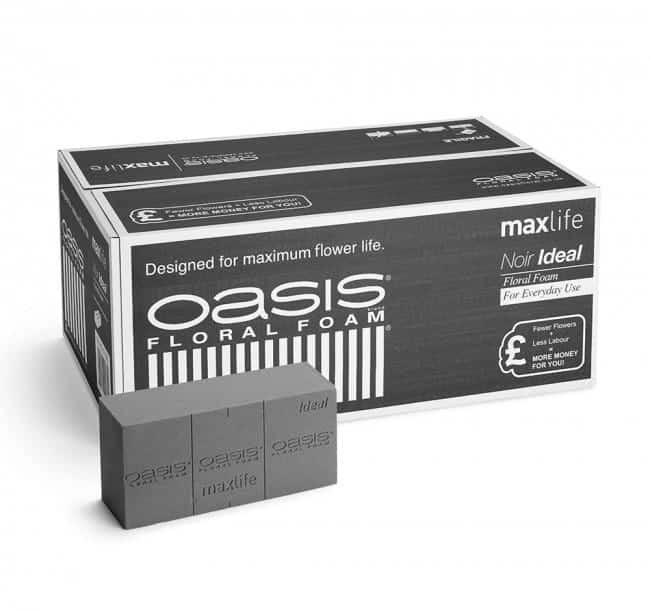 OASIS® Noir Ideal Floral Foam Maxlife Brick - 23 x 11 x 8cm (Pack of 20)
