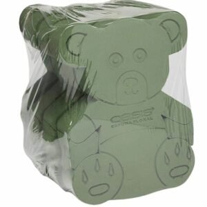 2D Bear Floral Foam 2pack
