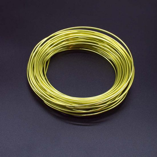 Aluminium Wire – Assorted Colours 2mm X Approx 11.7m – Apple Green