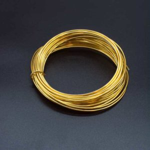 Aluminium Wire – Assorted Colours – Gold