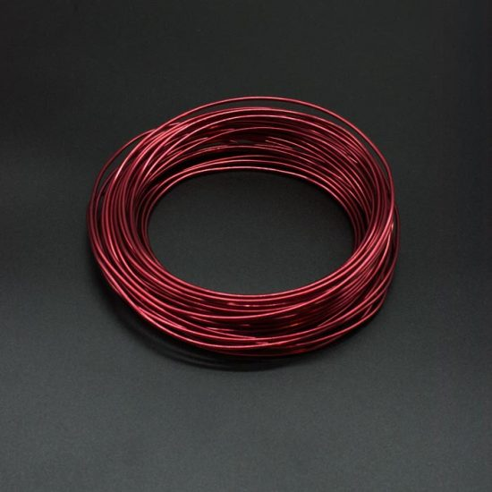 Aluminium Wire – Assorted Colours 2mm X Approx 11.7m – Red