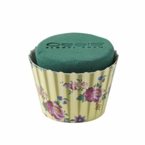 OASIS® Floral Cupcakes 6cm X 8cm/OASIS Floral Cupcakes - Ivory Floral - 6cm X 8cm