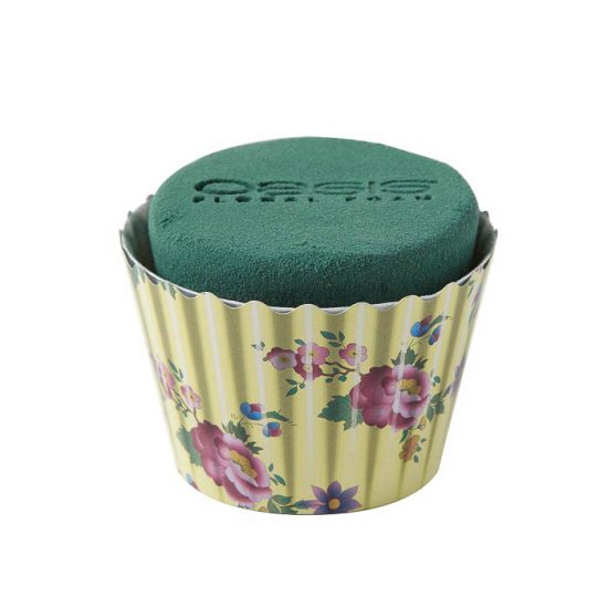 OASIS Floral Cupcakes Ivory Floral 6cm X 8cm