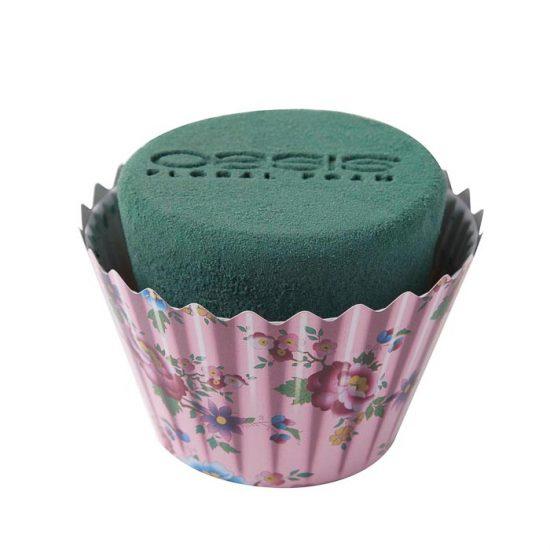 OASIS Floral Foam Cupcakes Pink Floral 9cmx12cm