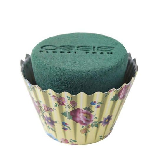 OASIS Floral Cupcakes Ivory Floral 9cmx12cm