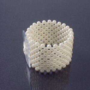 Wide Elasticated Bracelet Ivory