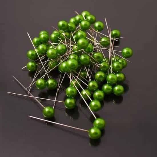 Corsage Pins – Apple Green – 10mm