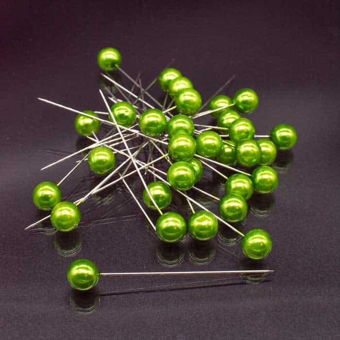 Corsage Pins Apple Green