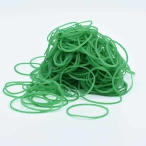 Green Rubber Bands 4.5cm 150g/bag