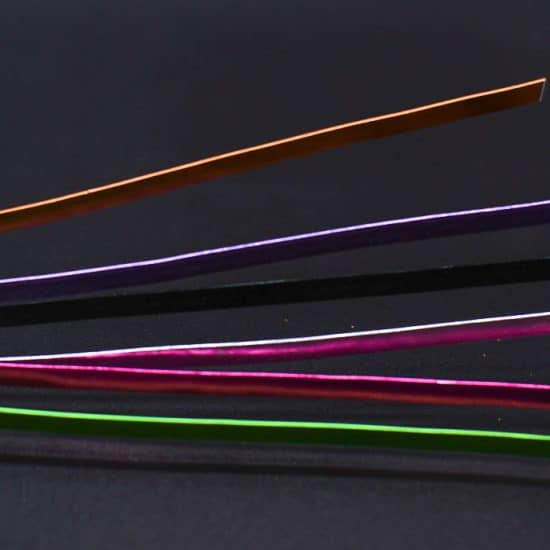 Aluminium Wire Flat- Assorted Colours          1mm X 5mm X 40g
