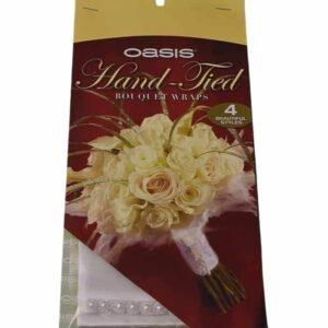 Bouquet Wrap Silk & Pearl-Ivory