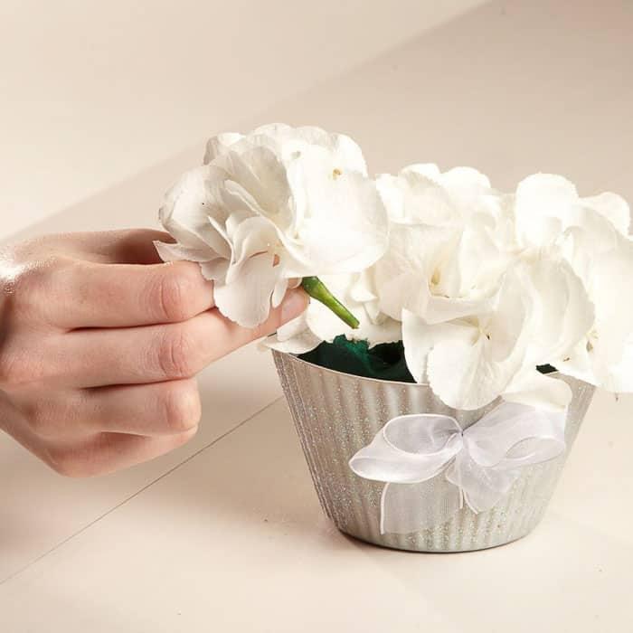 Wedding Floral Cupcake step 2