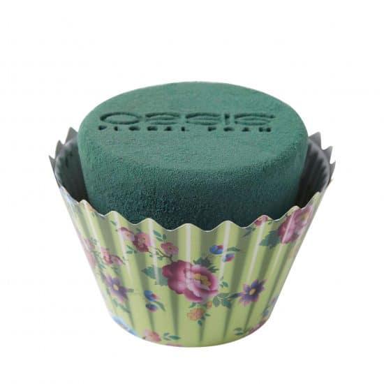 OASIS® Floral Foam Cupcakes Mint Floral 9cmx12cm