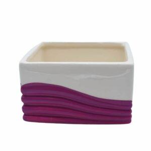 Ceramic Cube Pink & Cream