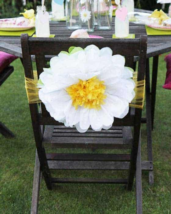 Floral Chair Back/Table Centre