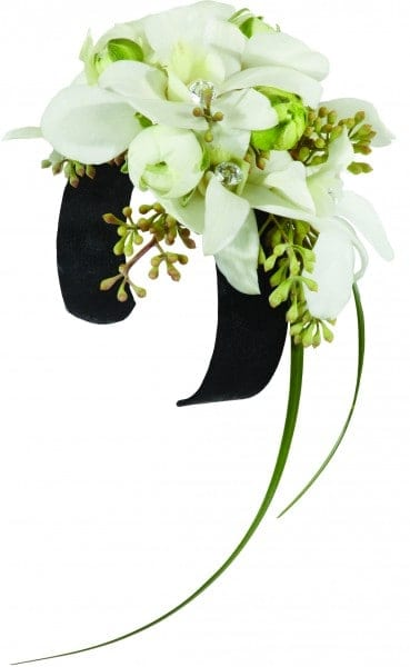 Black And White Glamour Corsage