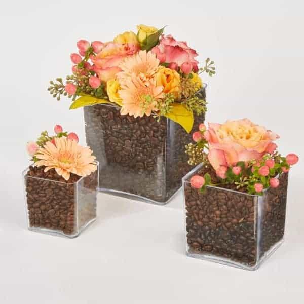 Cappuccino Cubed Floral Design