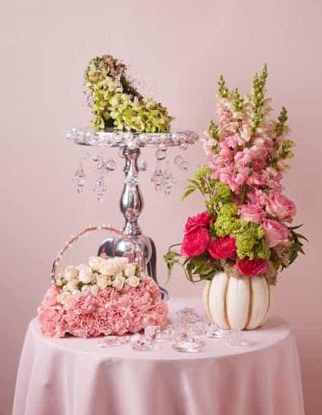 Cinderella Table Wedding Floral Arrangements