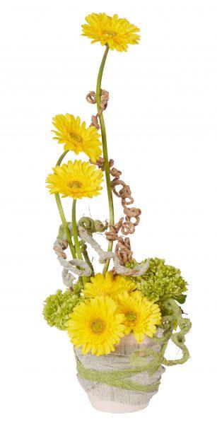 Gerbera and Jute Floral Centerpiece
