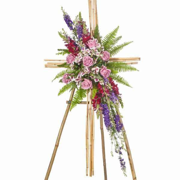 Larkspur And Fern Easel Floral Spray