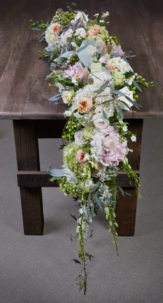 Orchids and Jute Floral Garland