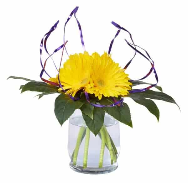 Purple Embrace Floral Vase