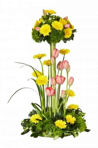 Spring Garden Flower Centerpiece