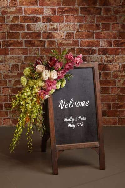 Wedding Floral Sign Decor