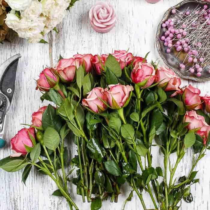 Floral Gift Bag Arrangement
