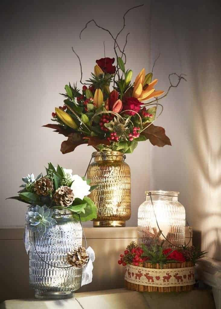 Gold, Frankincense and Myrrh Vases