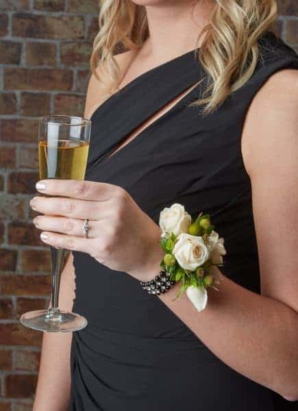 Pearls and Porcelain Floral Corsage