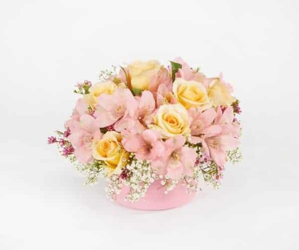 Antique Pink Cache Floral Centerpiece