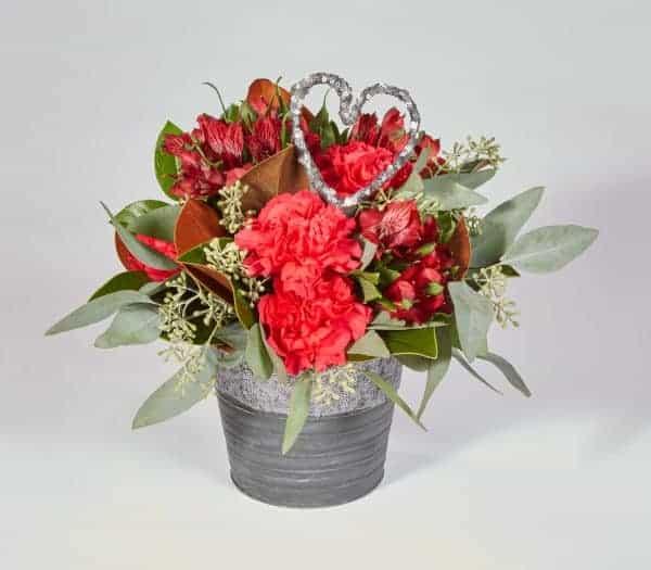 Bucket of Love Valentine Floral Design