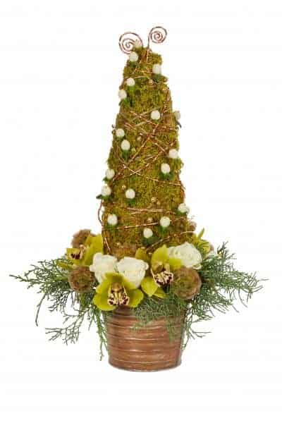 Holiday Tree Floral Centerpiece