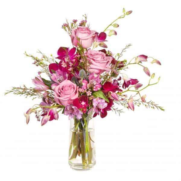 Lavender And Purple Cinch Vase Floral Design