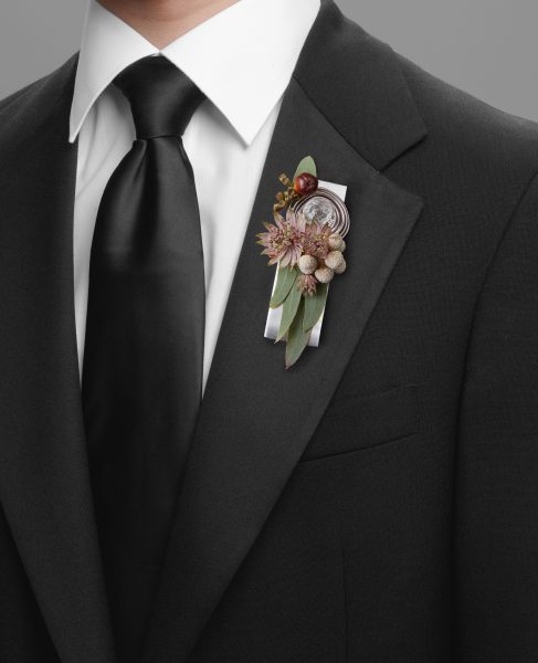 Pear Leaf Boutonniere