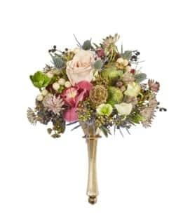 Gold Twist Mixed Textures Floral Wedding Bouquet