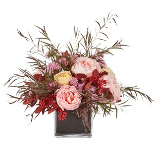 Pink, Red and Purple Midnight Floral Valentine