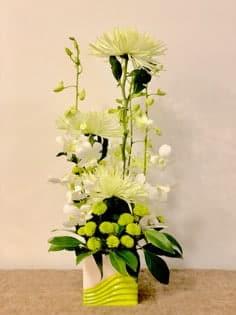 Cubed Chrysanthemums-Budget Designs in ceramics