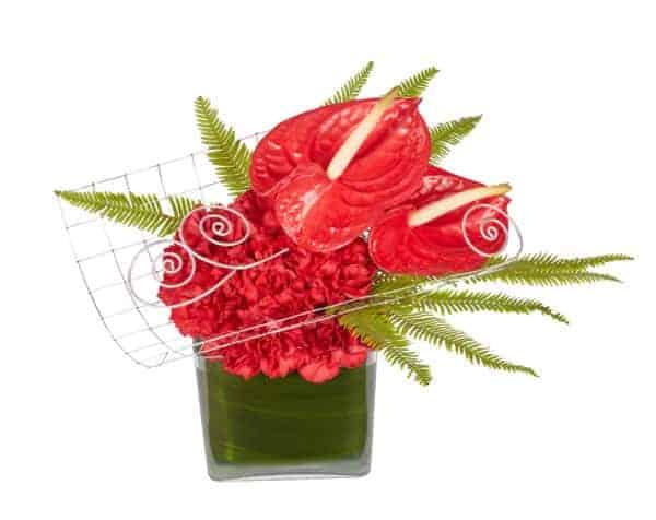 Enmeshed Valentine Floral Arrangement