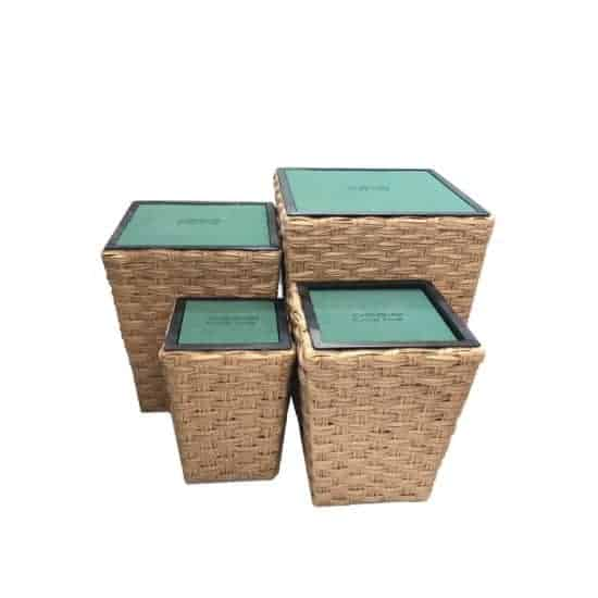 Imitation Rattan Tower Basket