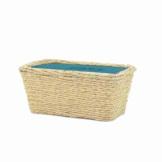 Imitation Rattan Basket Rectangular 23cm
