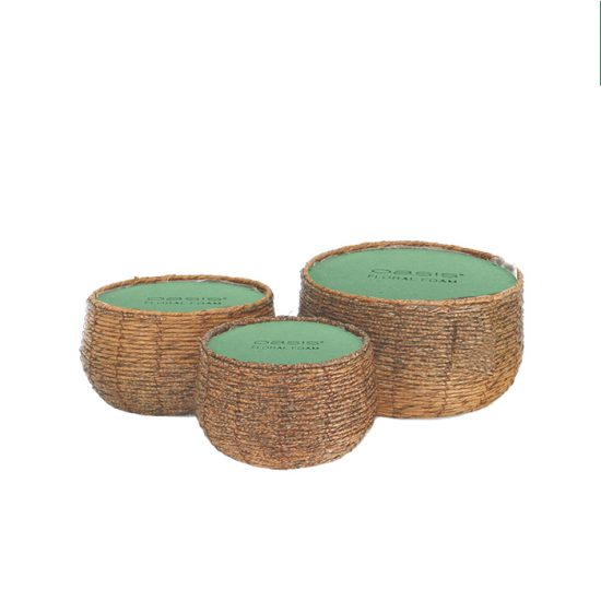 Imitation Rattan Basket 20cm Dark Brown