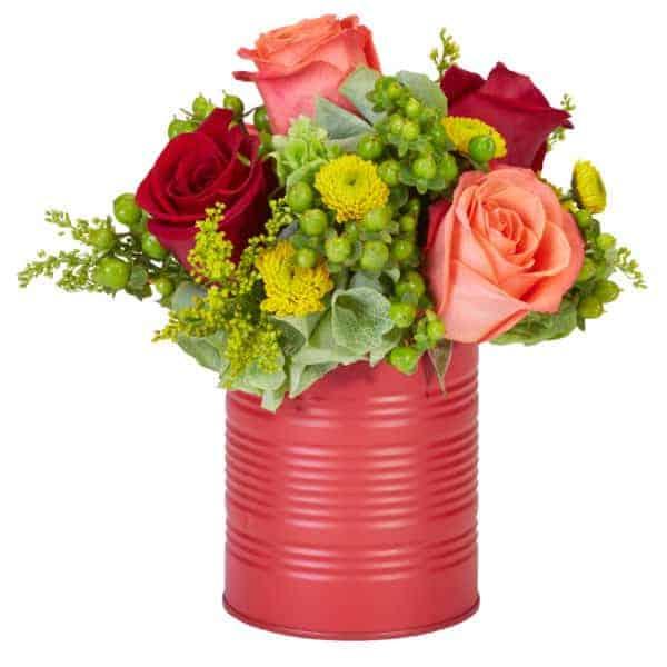 Four Rose Soup Valentine Bouquet