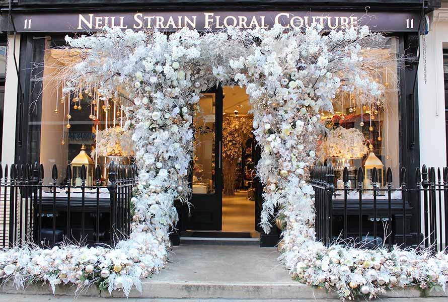 He Created Floral Doorway Art.