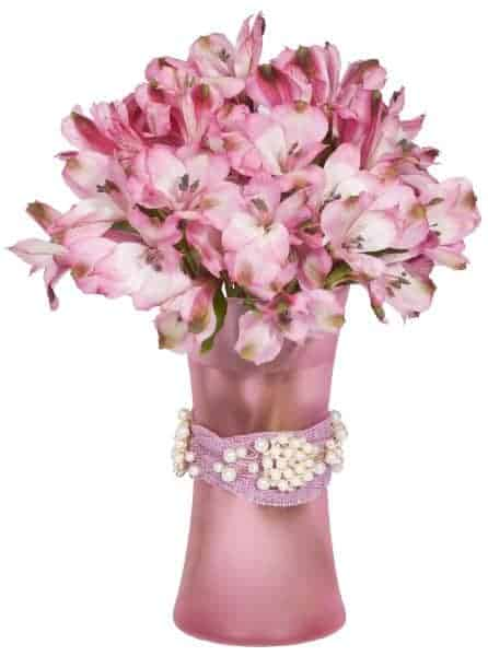 Pink and Pearls Floral Centerpiece