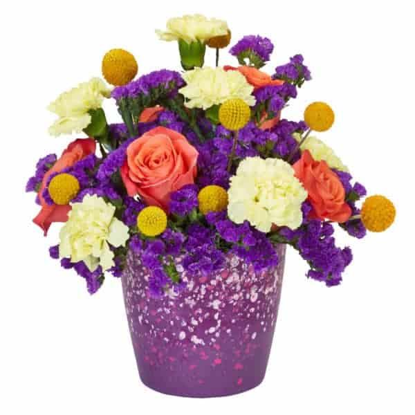 Purple Passion Valentine Flower Arrangement