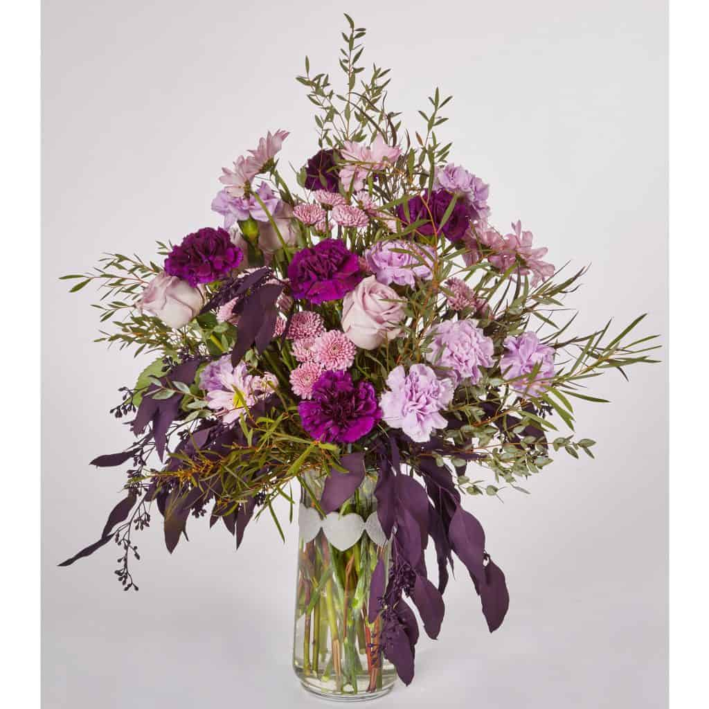 Six Shades of Purple Floral Valentine