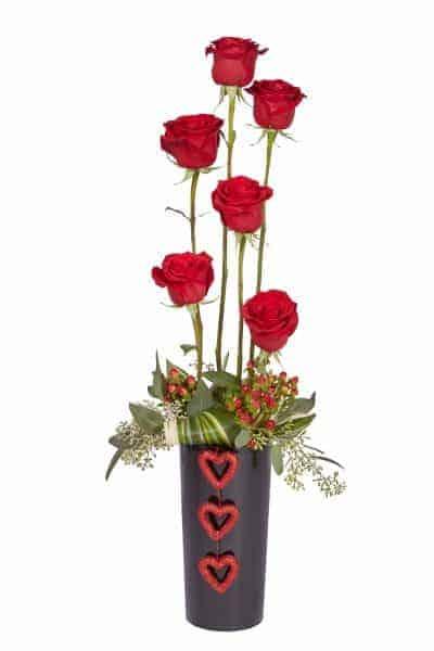 Straight-Up Valentine Centerpiece