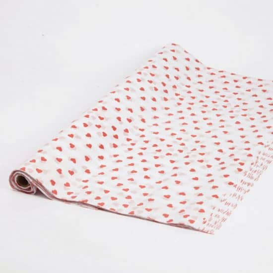 Red Hearts Tissue Paper